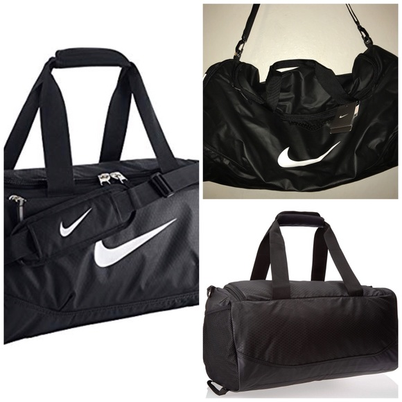 NWT NIKE Team Training Max Air Black Duffel Bag NWT 561be99bf9482